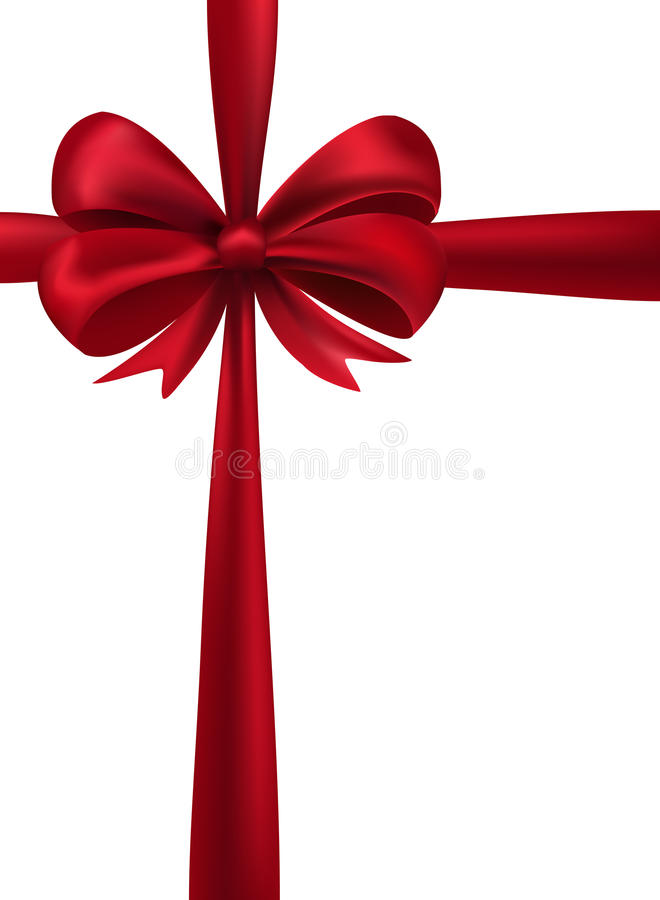 Download Shiny red satin ribbon stock image. Image of festive - 28191007