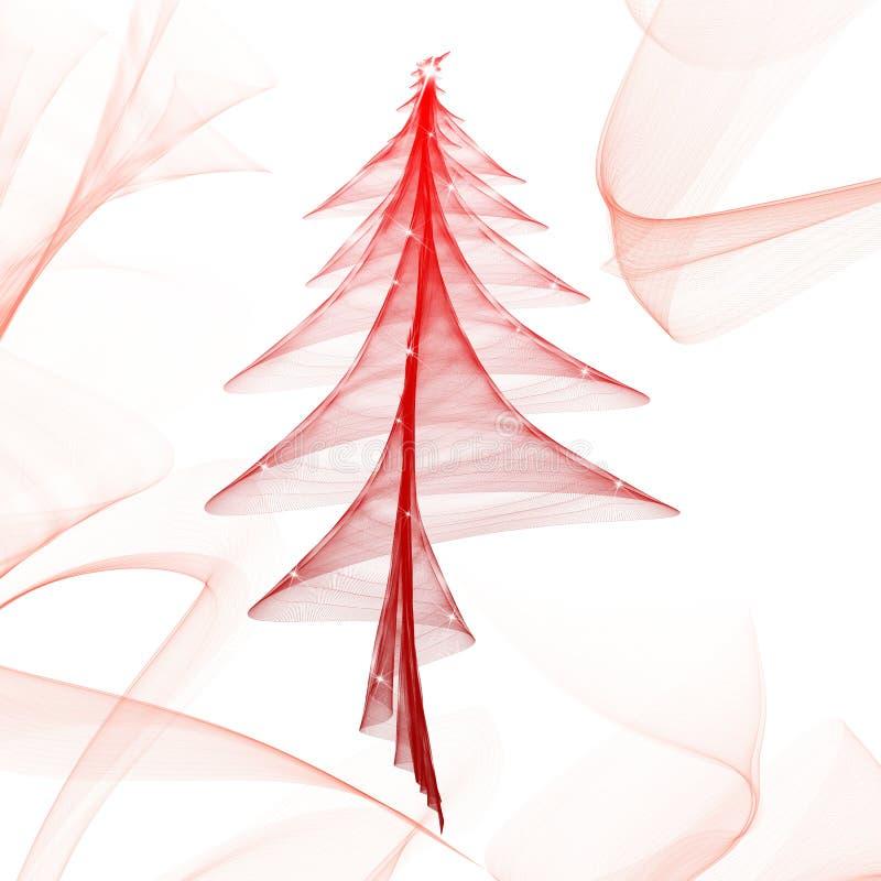 Shiny red tree stock illustration