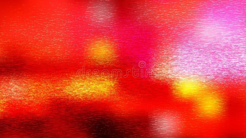 Shiny Red White och Yellow Metal Texture Illustrator royaltyfri illustrationer