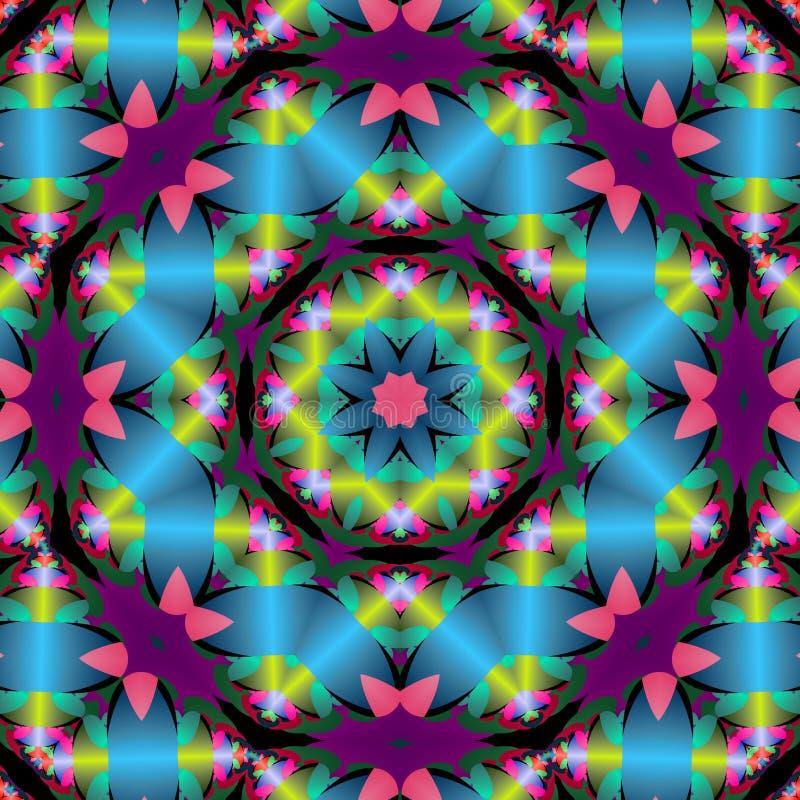 Download Shiny ribbon star mandala stock illustration. Image of kaleidoscope - 6118791