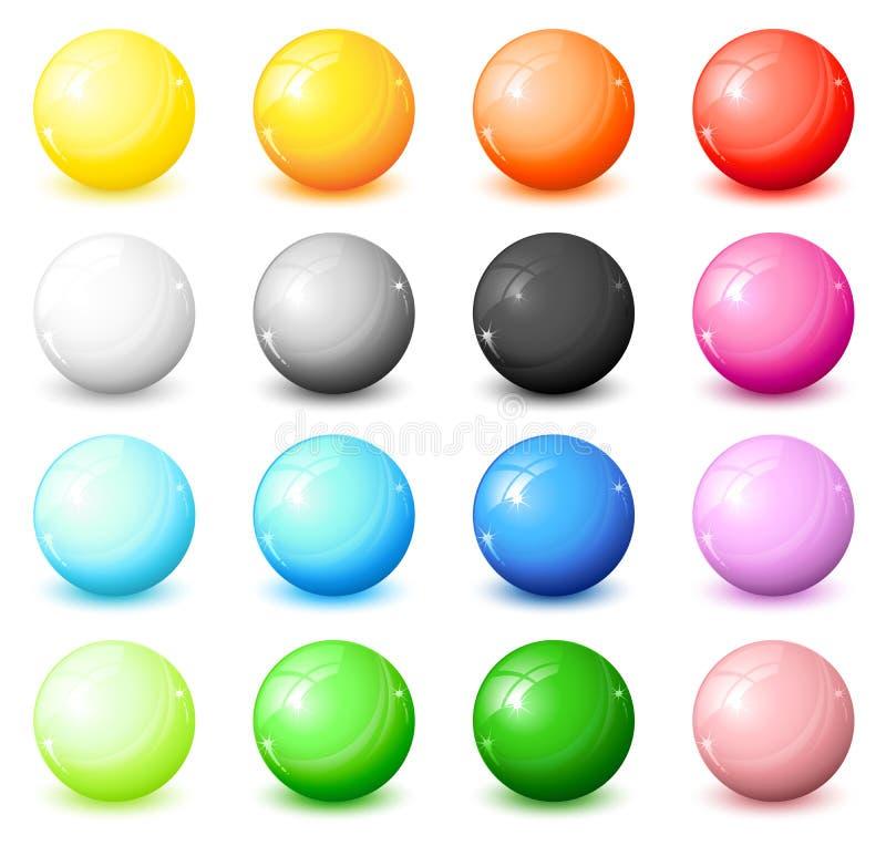 Shiny round icons royalty free illustration