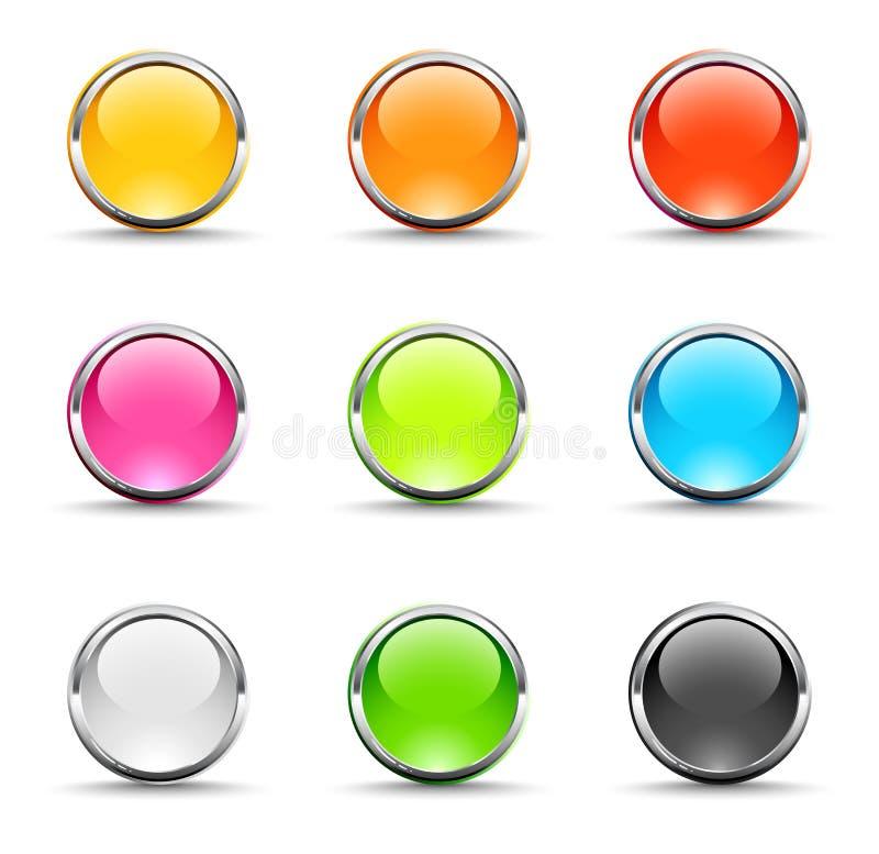 Shiny round icons vector illustration