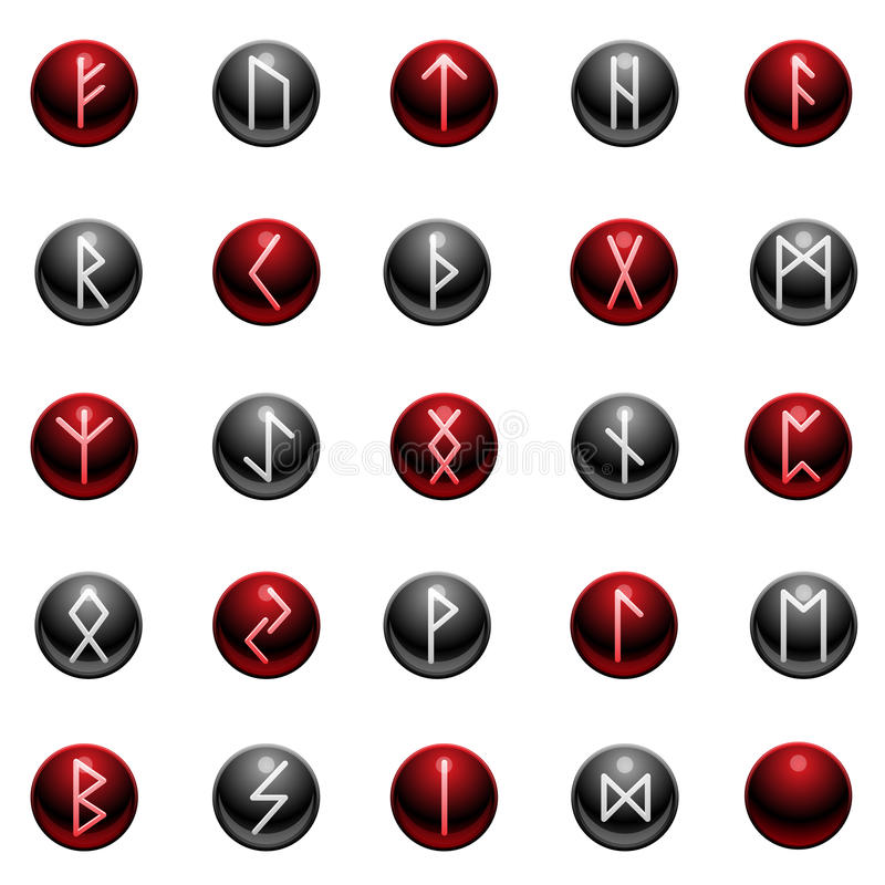 Shiny Rune Set Royalty Free Stock Image