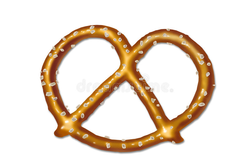 Shiny salted pretzel stock images