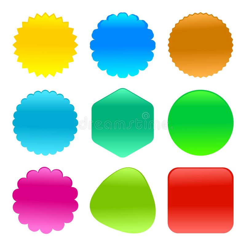 Shiny shapes web buttons vector illustration vector illustration
