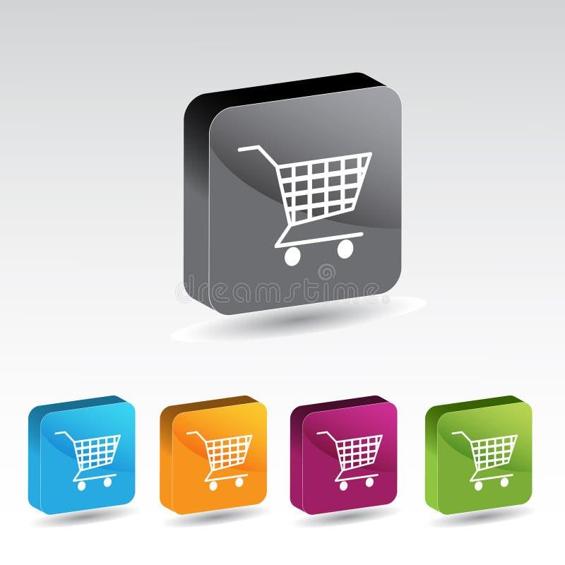 Shiny shopping cart button set