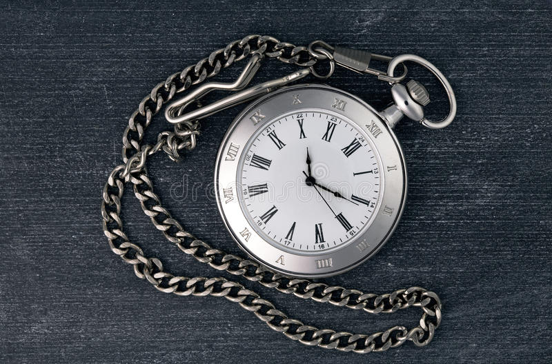 Download Shiny silver chain watch stock image. Image of board - 28388229
