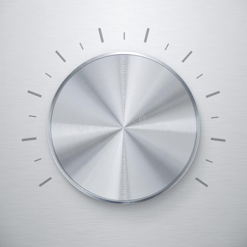 Download Shiny silver volume knob stock image. Image of design - 24150063