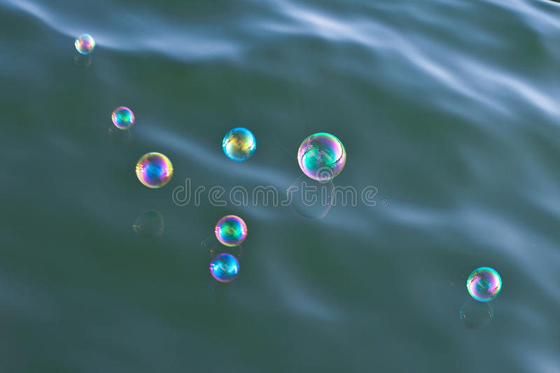 Download Shiny Soap-bubbles Over Water Stock Image - Image: 13495025