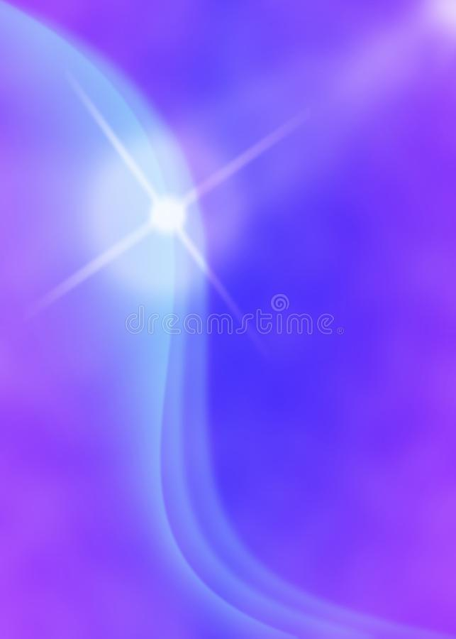 Shiny Sparkle and Curves in Blurred Blue and Violet Background stock photos