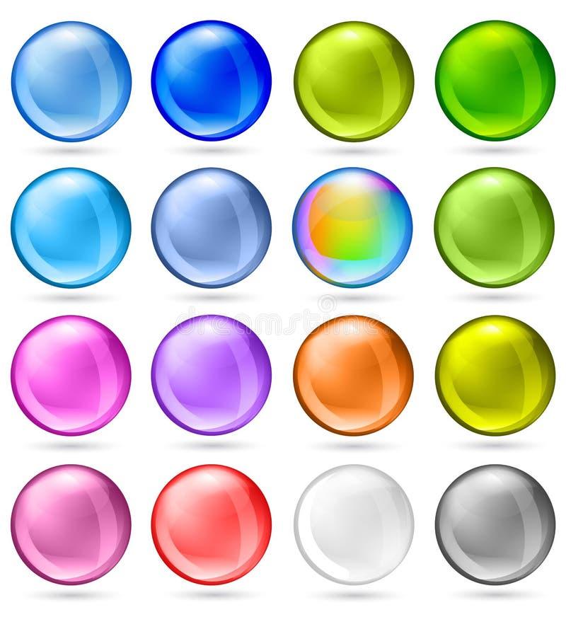 Shiny Sphere Set stock illustration