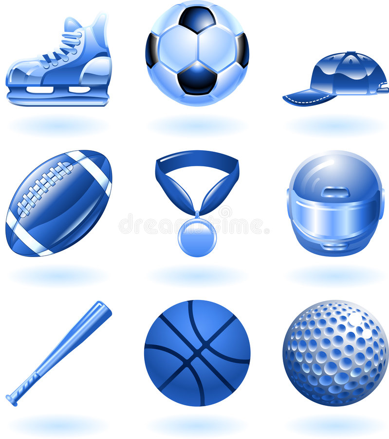 Download Shiny Sports Icon Set Series Stock Vector - Image: 9275151