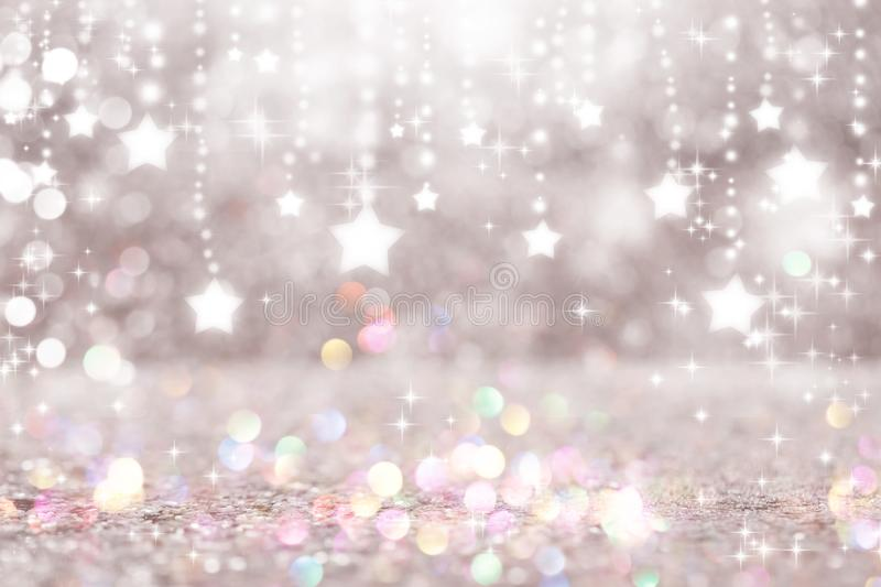 Shiny stars with abstract light background. Beautiful shiny stars with abstract light background stock images