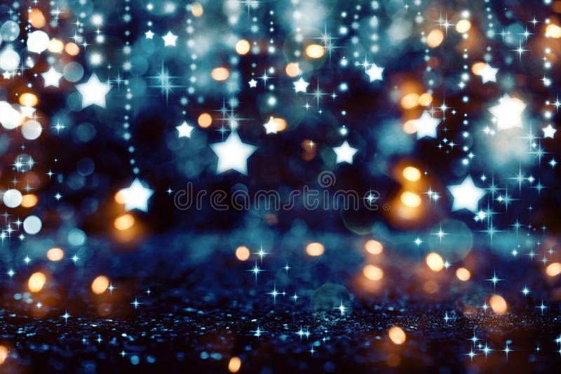 Shiny stars with abstract light background royalty free stock images