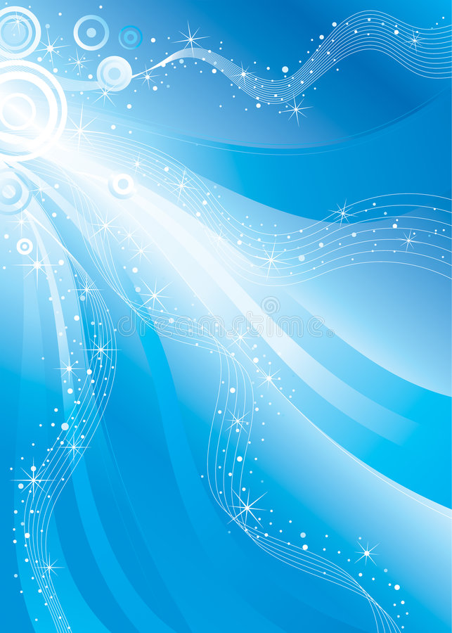 Shiny stars flowing. Vector background design, shiny stars flowing space royalty free illustration