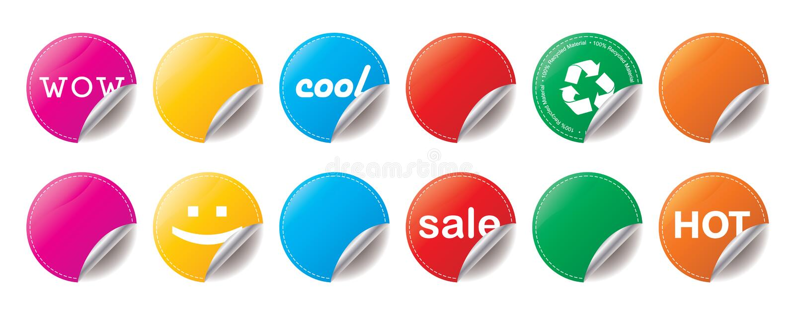 Download Shiny Stickers stock vector. Image of isolated, icon - 12716545