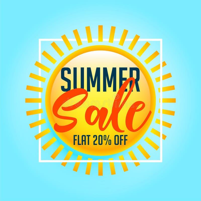 Shiny sun summer sale background royalty free illustration