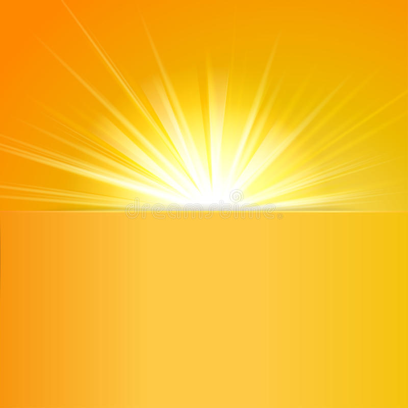 Shiny sun vector, sunbeams, sunrays royalty free illustration