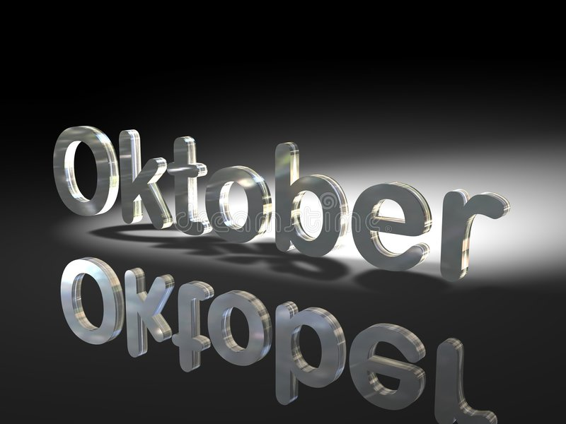 Shiny Text Design - Oktober Royalty Free Stock Photo