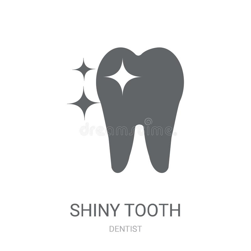 Shiny Tooth icon. Trendy Shiny Tooth logo concept on white background from Dentist collection stock illustration