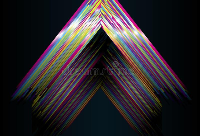 Shiny Triangle Background Stock Photo