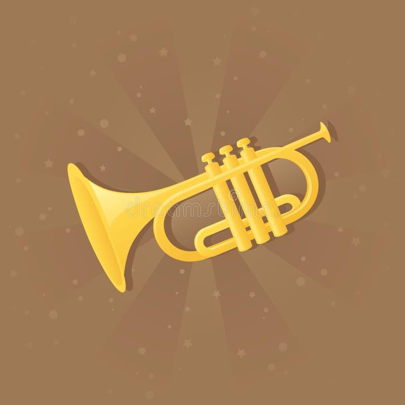 Shiny trumpet. vector illustration