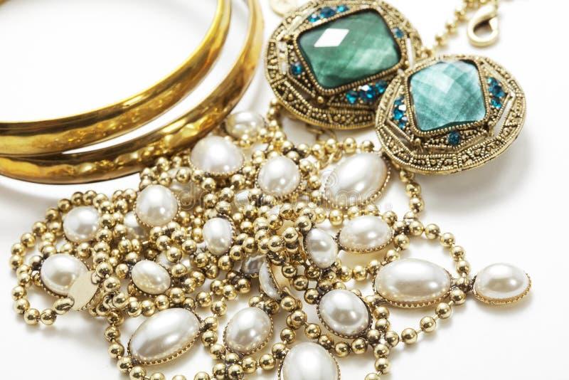 Shiny vintage jewelry stock photo