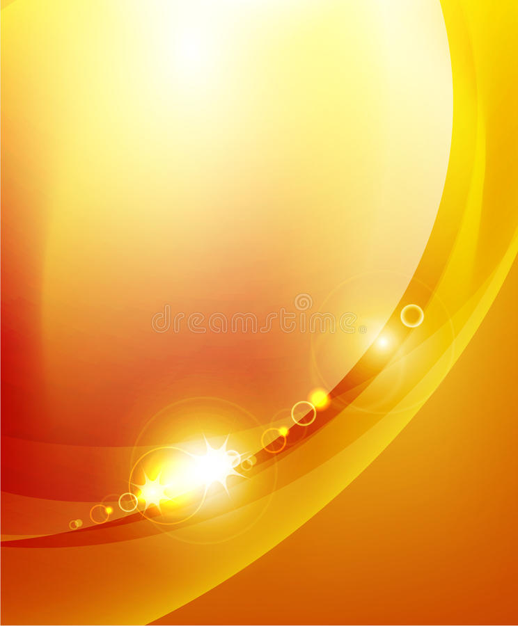 Shiny Wave Abstract Background Stock Image