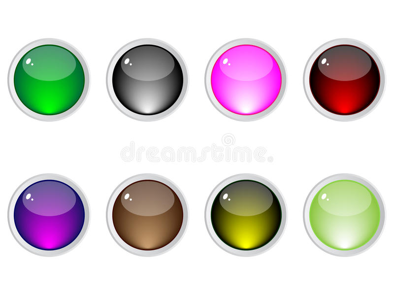 Shiny web buttons vector illustration