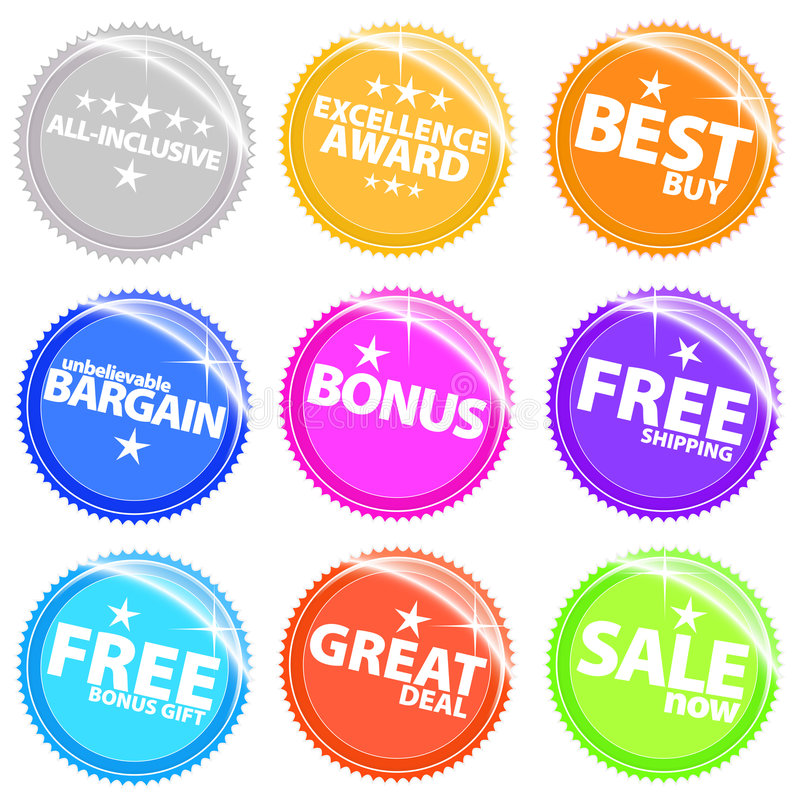 Download Shiny Web Stickers And Tags With Text Royalty Free Stock Photo - Image: 5294585