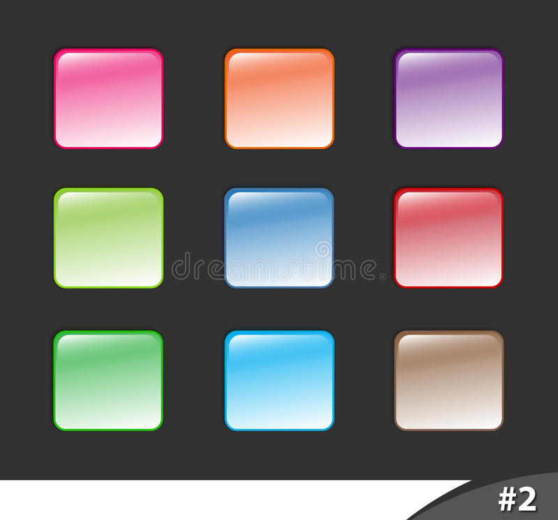 Download Shiny Website Buttons, Part 2 Stock Vector - Illustration of buttons, trendy: 13315945