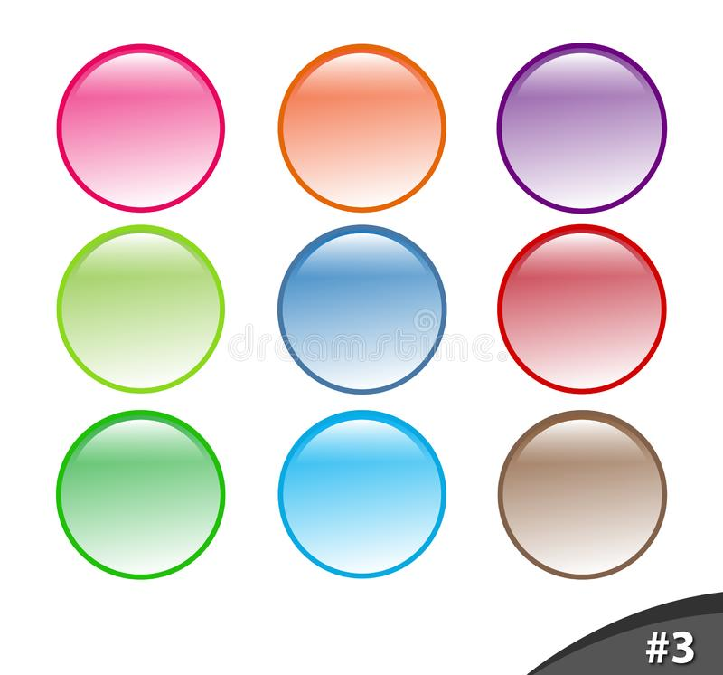 Shiny website buttons, part 3 stock image