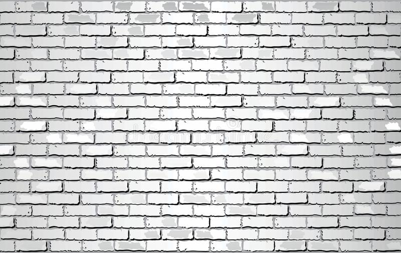 Shiny White Brick Wall royalty free illustration