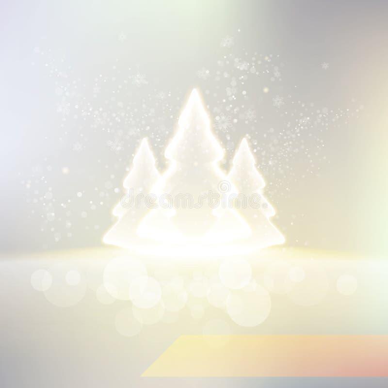 Shiny winter background vector illustration