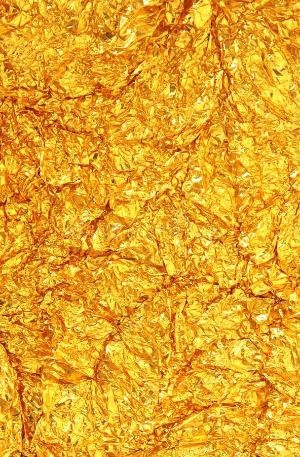 Download Shiny Gold Foil Texture Background Stock Photo