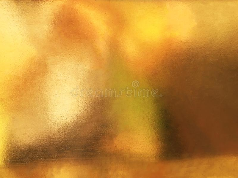 Shiny yellow leaf gold foil texture background stock photo