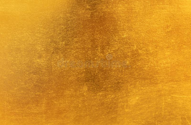 Shiny yellow leaf gold metal texture and background royalty free stock images