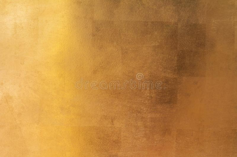 Shiny yellow leaf gold metal texture and background royalty free stock photos