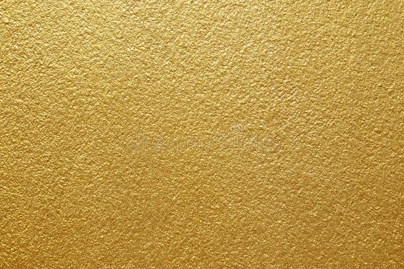 Shiny yellow leaf gold of wall texture background stock image