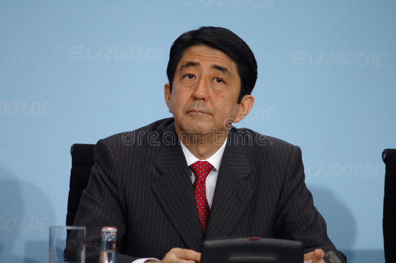 Shinzo Abe royalty-vrije stock fotografie
