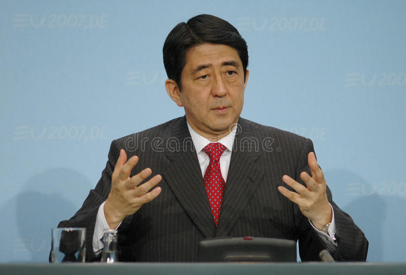 Shinzo Abe stock foto