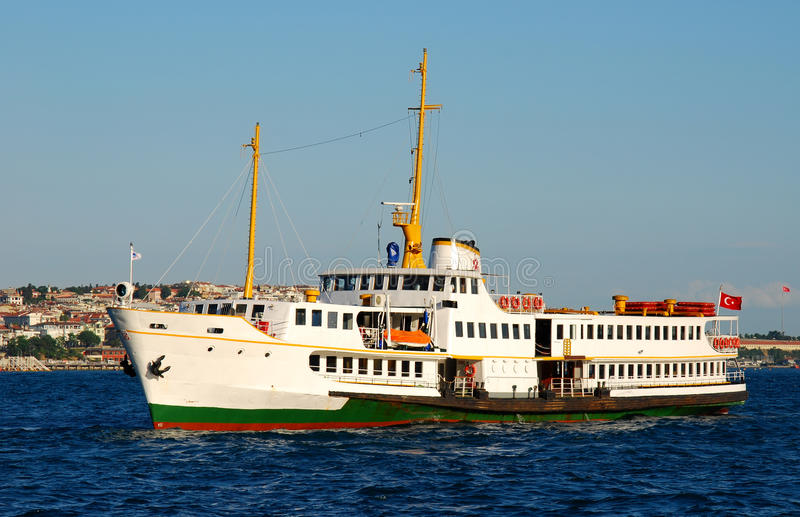 Ship on Bosphorus Strait, Istanbul, Turkey royalty free stock photography