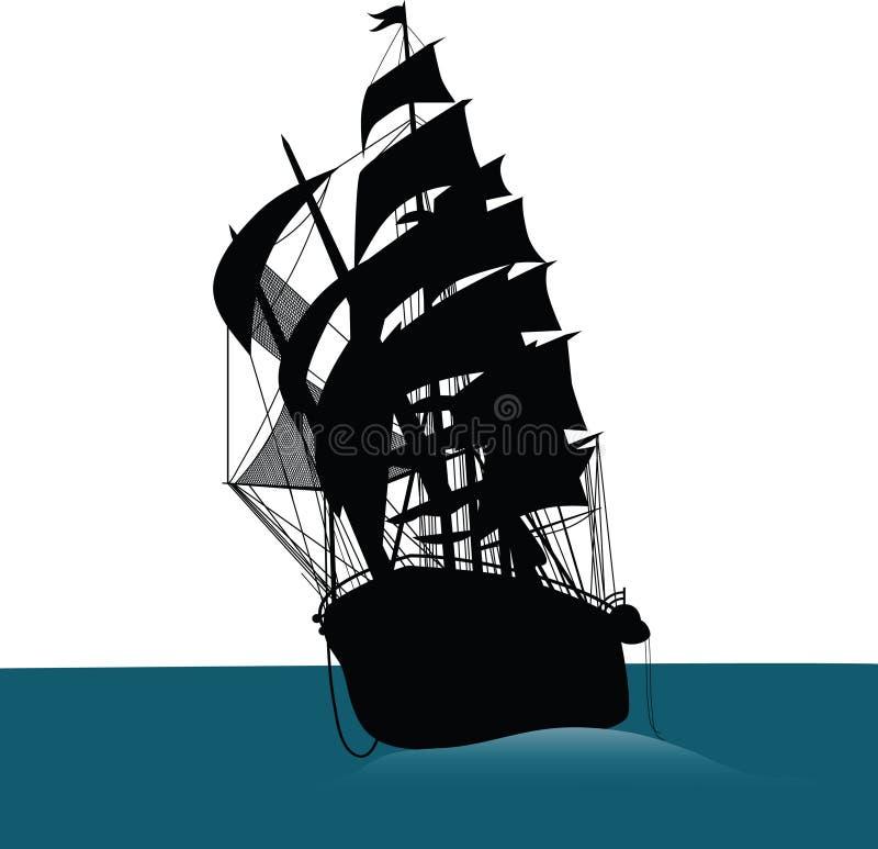 Download Ship stock vector. Image of brigantine, activity, nautical - 16747392
