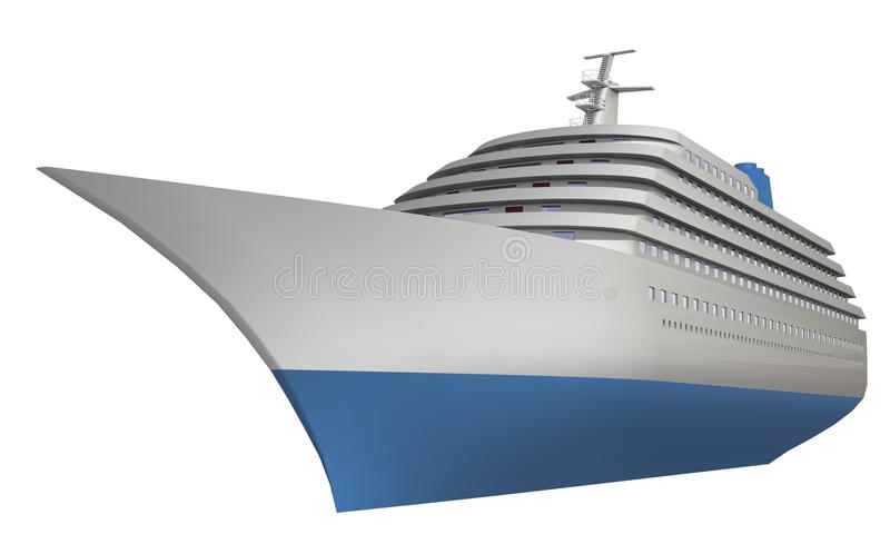 Download Ship stock illustration. Image of cruise, liner, nobody - 25294971