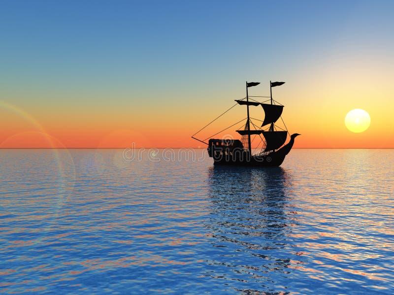 Download Ship stock illustration. Illustration of silhouette, horizon - 2700311