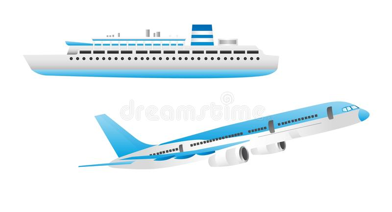 Download Ship and aircraft stock vector. Illustration of holiday - 22779027