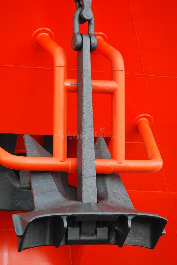 Ship Anchor. A photo taken on a large ship anchor hoist system stock photos