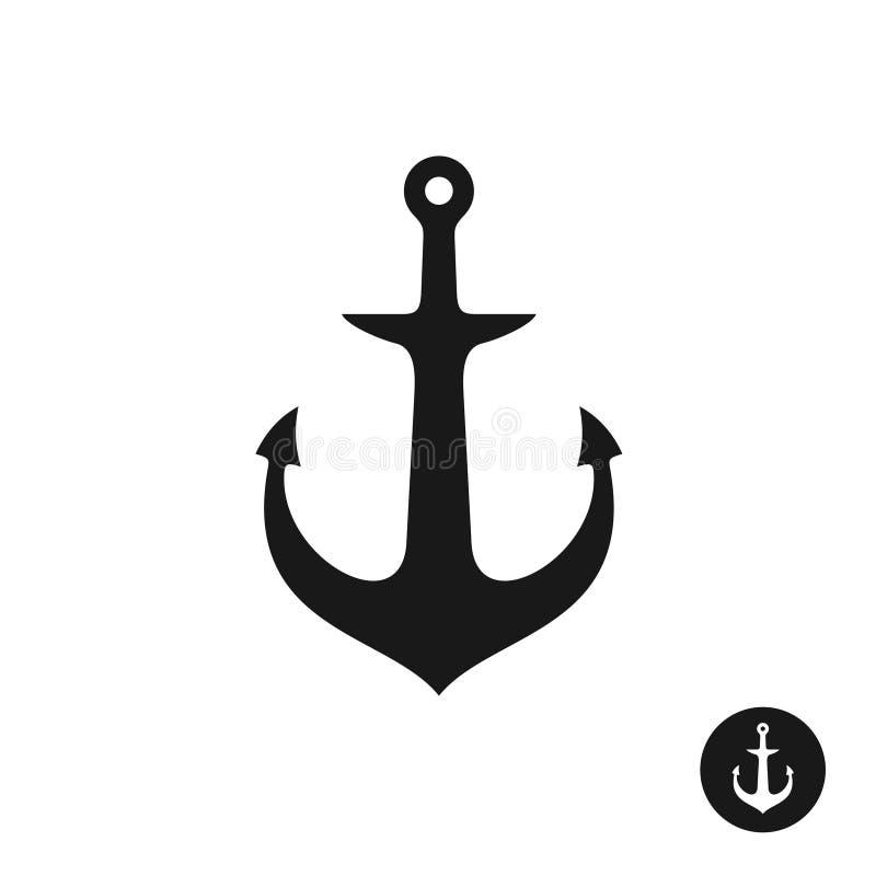 Ship Anchor Simple Black One Piece Silhouette Stock Vector