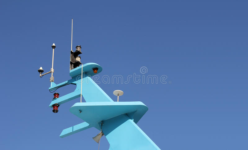 Download Ship antenna stock photo. Image of blue, positioning - 26274532