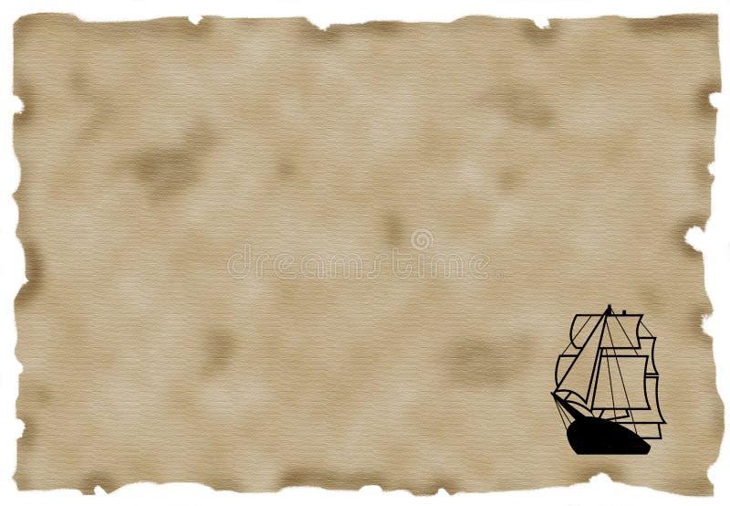 Ship On Antique Paper vector illustration